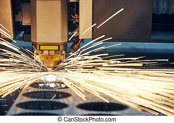 acciaio, appartamento, foglio, tecnologia, materiale, metallo, taglio, laser, proc