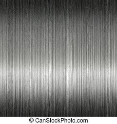 acciaio, baluginante, metallo spazzolato, inossidabile