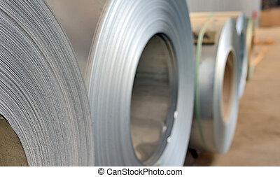 acciaio, bobina, galvanizzato
