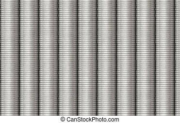 acciaio, bobine, metallo, struttura, tubatura, fondo