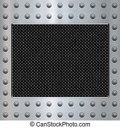 acciaio, carbonio, fondo, fibra