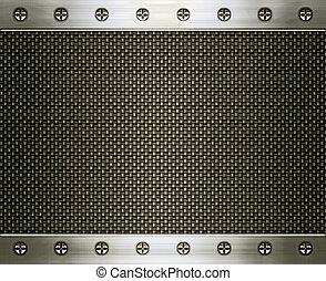 acciaio, e, carbonio, fibra