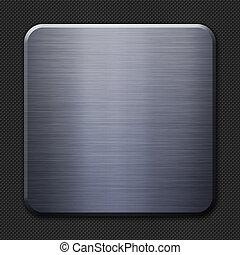 acciaio, e, carbonio, fibra, fondo