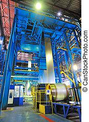 acciaio, fabbricazione, foglio, in crosta, zinco