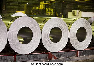acciaio, foglio, in crosta, zinco