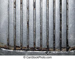 acciaio, fondo., struttura