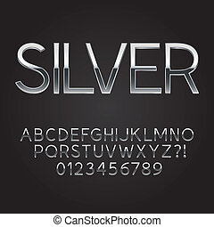 acciaio, font, magro, numeri, scheggia