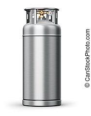 acciaio, industriale, contenitore, pressione, inossidabile,...