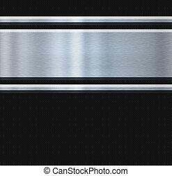 acciaio, inossidabile, carbonio, fibra