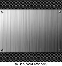 acciaio, inossidabile, fibra, carbonio
