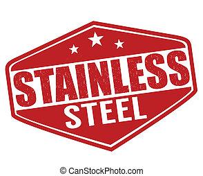 acciaio, inossidabile, francobollo