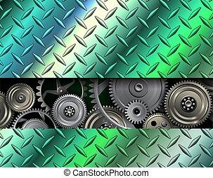 acciaio, inossidabile, metallico, struttura