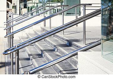 acciaio, inossidabile, railings