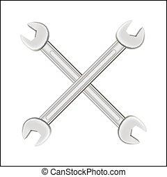 acciaio, logotipo, croce, strappare