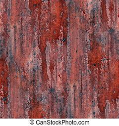 acciaio, marrone, vecchio, fondo, parete, metallo, seamless...