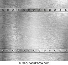 acciaio, metallo, illustrazione, fondo, chiodi, 3d