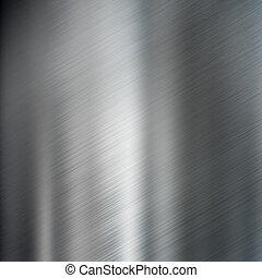 acciaio, metallo spazzolato, struttura, fondo