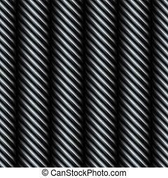 acciaio, modello, filo