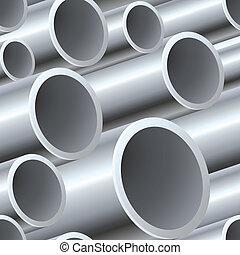 acciaio, modello, tubi per condutture, seamless, 3d