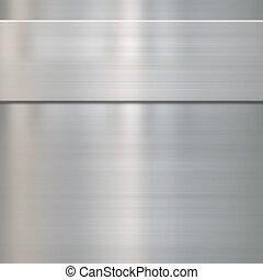 acciaio, multa, metallo spazzolato