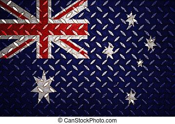 acciaio, piastra, australia, diamante, seamless