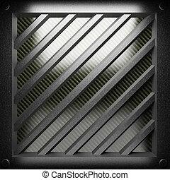 acciaio, piastra, carbonio