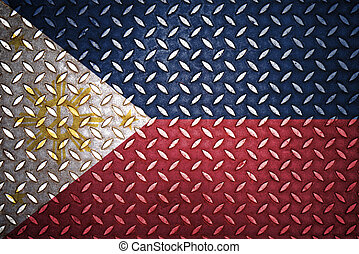 acciaio, piastra, diamante, filippine, seamless, bandiera