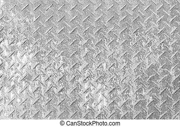 acciaio, piastra, diamante, struttura, arrugginito, fondo