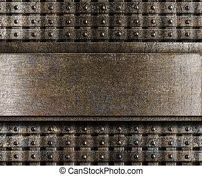 acciaio, piastra, metallo, fondo