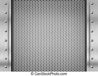 acciaio, piastra, metallo, struttura, fondo