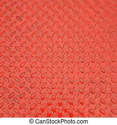 acciaio, piastra, metallo, struttura, fondo, rosso