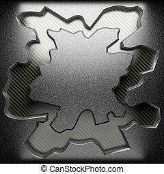 acciaio, piastra, su, carbonio
