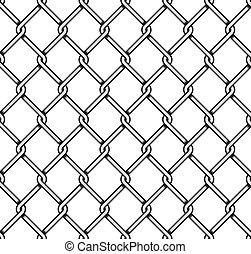 acciaio, protezioni in rete, seamless, fondo.