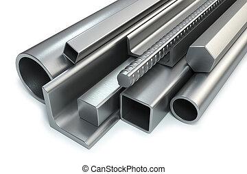 acciaio, rotolato, prodotti