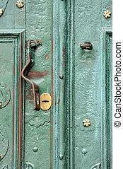 acciaio, serratura, porta