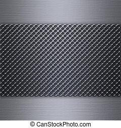 acciaio, sopra, maglia, spazzolato, alluminio