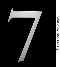 acciaio, spazzolato, numero 7