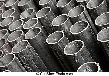 acciaio, tubo