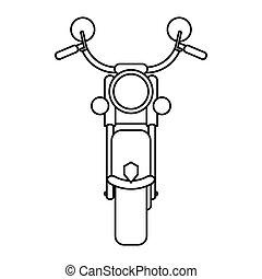 acciaio, velocità, contorno, trasporto, motorcyle