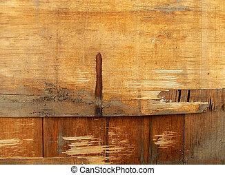 accidenté, bois, surface, texture