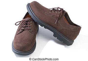 accidenté, chaussures occasionnelles