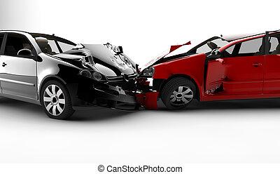 accident, à, deux, voitures