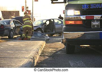 Accident ambulance transport hospital