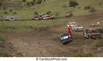 Accident at the track