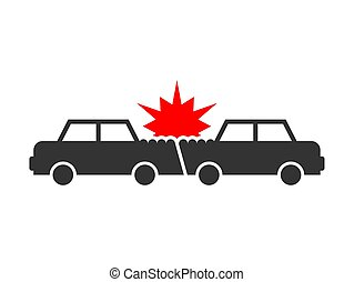 Accident cars. RGB - Car crash icon. Accident cars. ...
