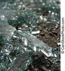 accident crash shattered glass from car window in sunlight