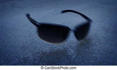 Accident - Dark Glasses Dropped And Crushed - Pair of dark...