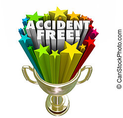 accident, gratuite, récompense, trophée, enregistrement, prix, mieux, sécurité