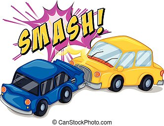 Accident - Illustration of a car accident