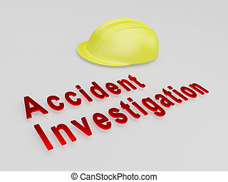 Accident Investigation concept
